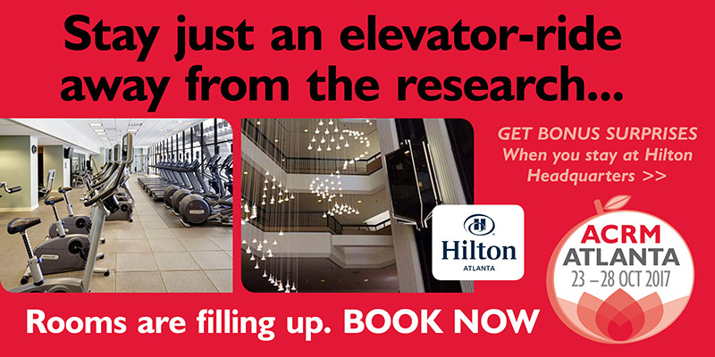 Stay just an elevator-ride away from the research ... HILTON