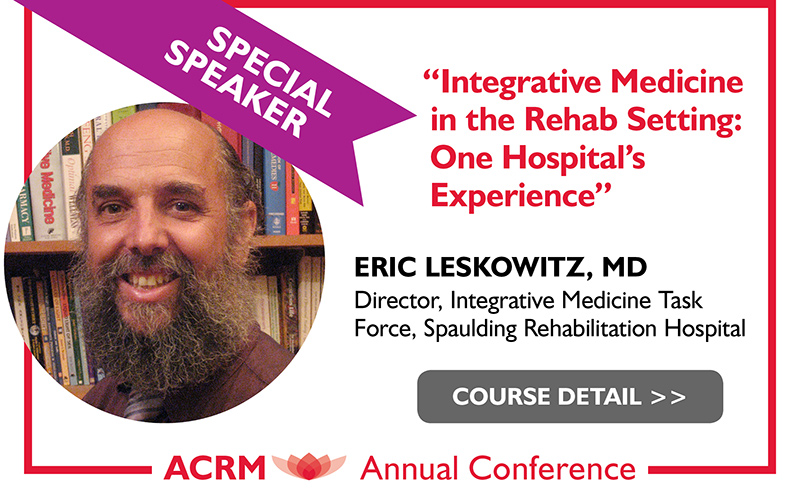 Leskowitz: ACRM Conference Progress in Rehabilitation Research (PIRR) #PIRR2017 ATLANTA HILTON
