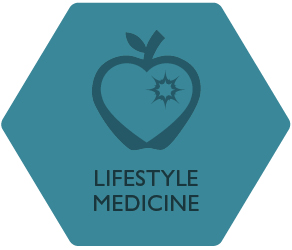Lifestyle Medicine Group hexagon logo graphic