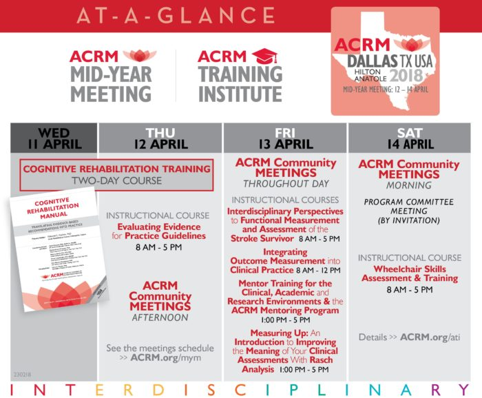 ACRM Mid-Year Meeting At-A-Glance Overview