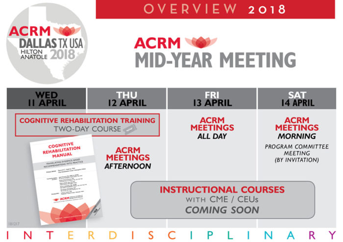 ACRM Mid-Year Meeting 2018 DALLAS Overview infographic