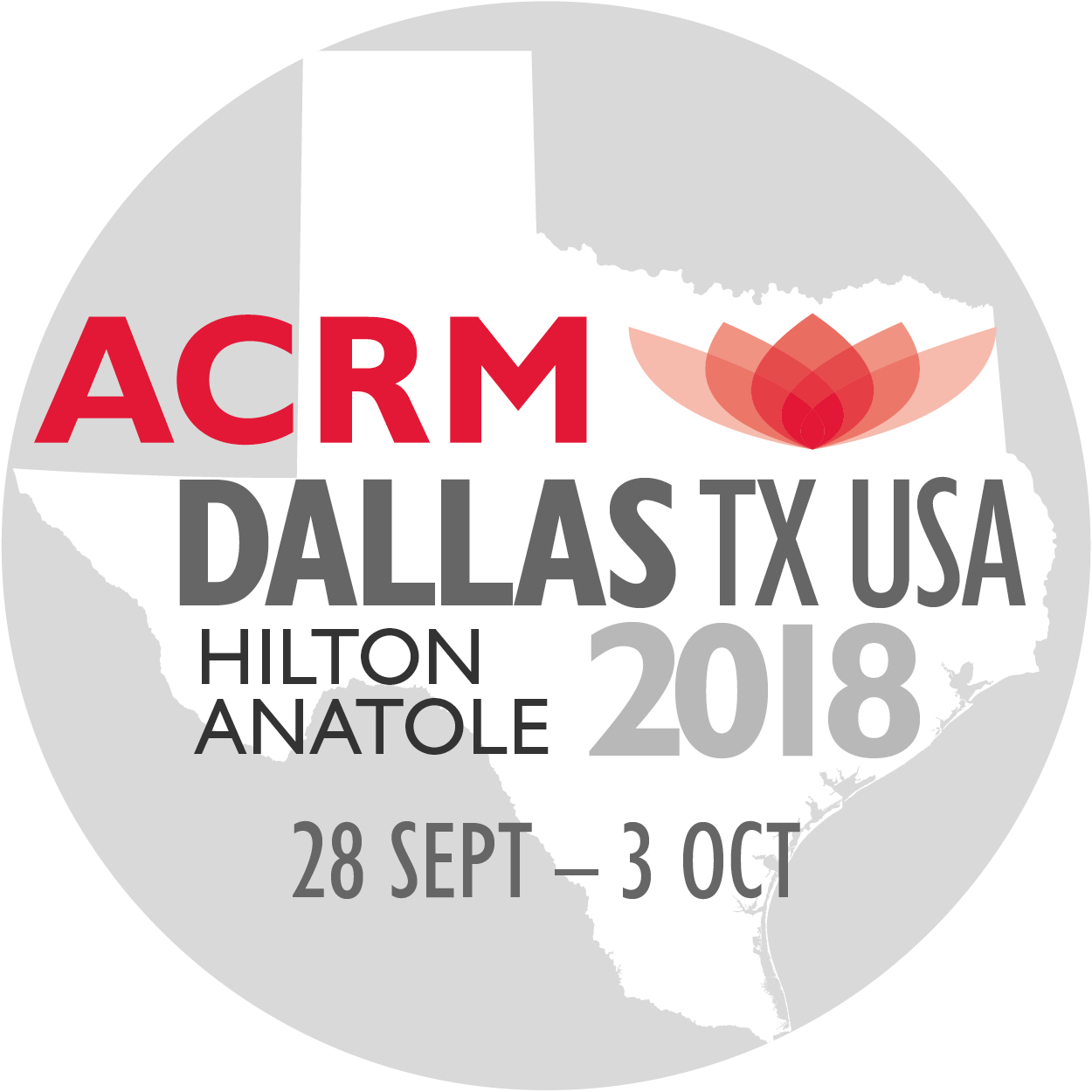 ACRM 2018 TEXAS full date range 28 SEPT - 3 OCT