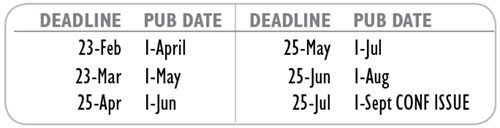 exhibitor & sponsor monthly deadlines 2018