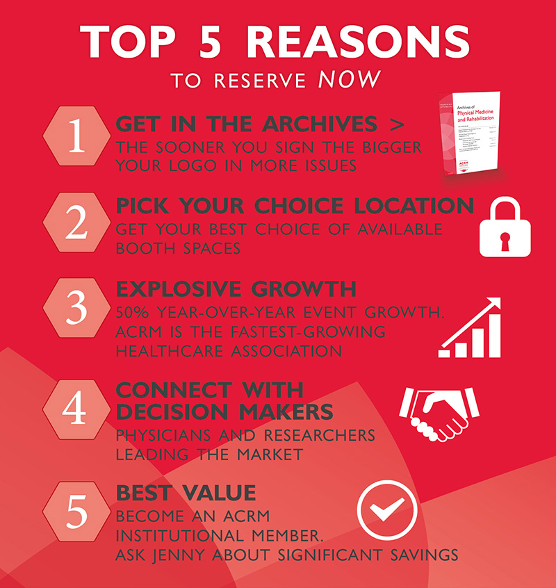 TOP 5 Reasons to reserve our slot at ACRM Now