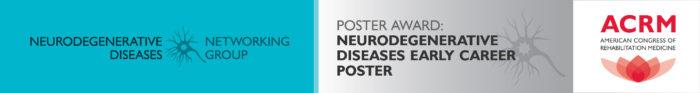 Neurodegenerative Diseases Early Career Poster Award header