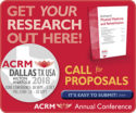 Get your research out here! ACRM Conference Call for Proposals box ad