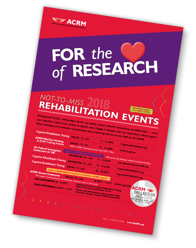 Rehab events poster 2018