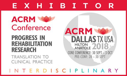 ACRM Annual Conference 2018 Dallas: EXHIBITOR badge graphic