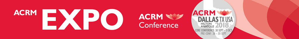 ACRM Conference EXPO Header
