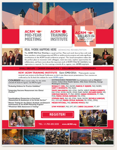 Flyer ad thumbnail: Mid-Year Meeting & ACRM Training Institute April 2018 DALLAS