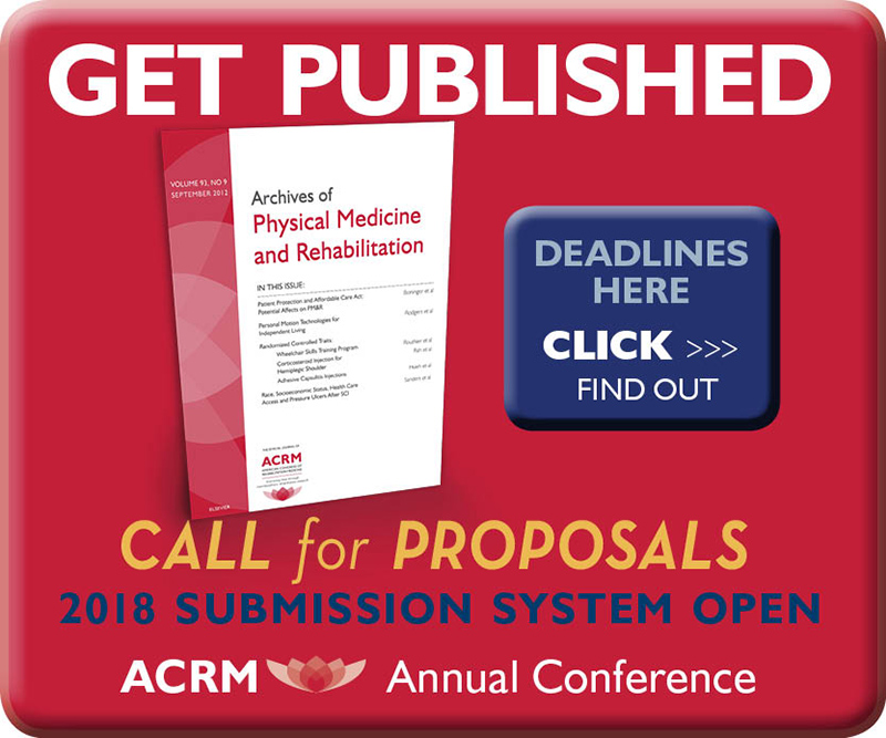 GET PUBLISHED: Call for Proposals: ACRM Annual Conference DALLAS 2018 Hilton Anatole