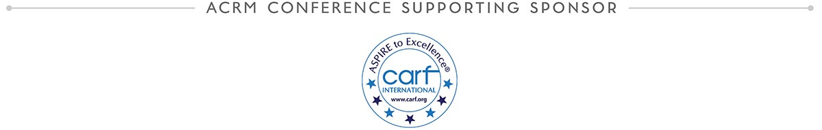 ACRM 2018 Annual Conference Sponsor: CARF International