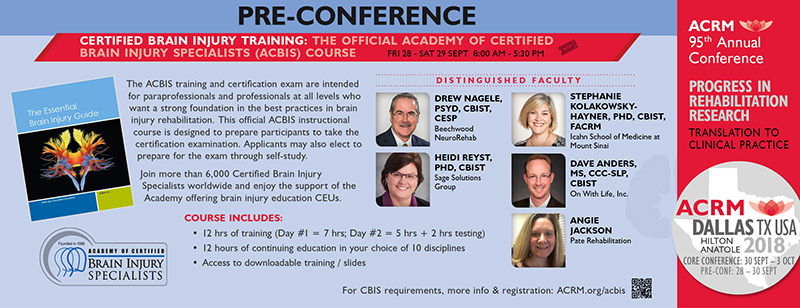 ACBIS Training Course at ACRM Conference