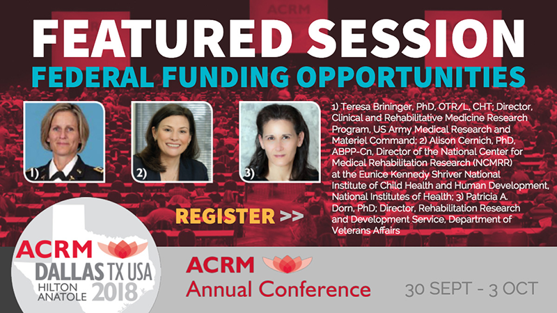 ACRM Annual Conference FEATURED SESSION 2018 DALLAS: FUNDING