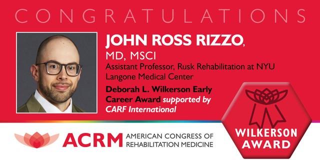 Early Career Award recipient, John Ross Rizzo