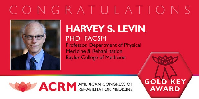 ACRM Gold Key Award recipient Dr. Harvey Levin