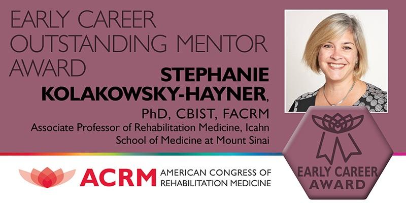 Early Career Mentor Award recipient, Stephanie Kolakowsky-Hayner