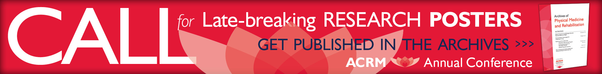 ACRM Call for Late-Breaking Research Poster Proposals