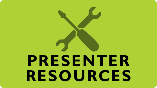 Links to presenter resources page.