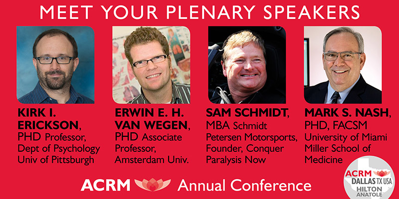 ACRM Annual Conference: 4 Plenary Speakers DALLAS #ACRM2018
