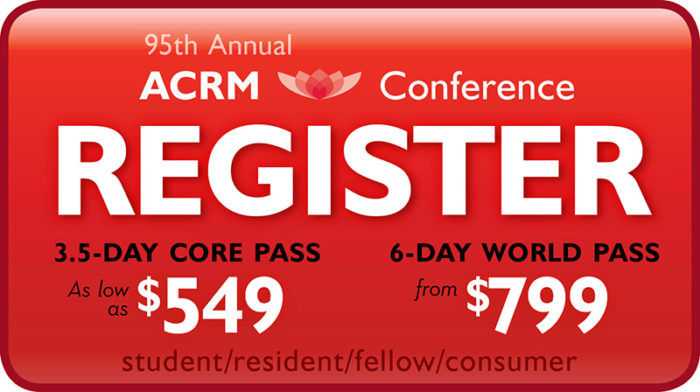 CLICK to Register for the ACRM Annual Conference