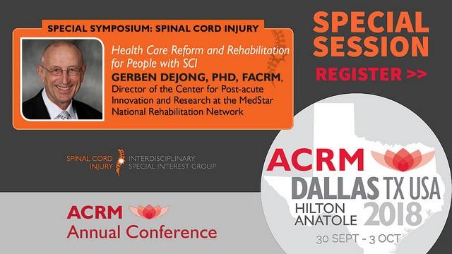 SCI Special Symposium featuring Gerben DeJong