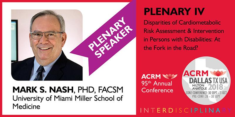 Mark Nash Plenary IV Presenter ACRM Annual Conference 2018 Dallas