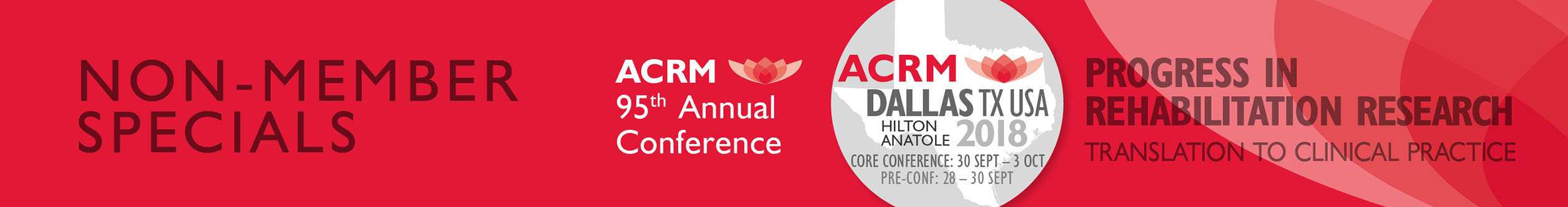 Non-Member Specials ACRM Annual Conference 2018 Dallas