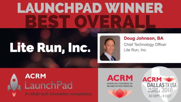 "Lite Run Inc. awarded ACRM LaunchPad ""Best Overall"" innovation"