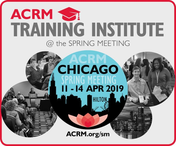 ACRM Training Institute at the Spring Meeting image
