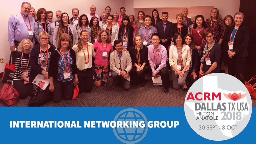 International Networking Group members attending the ACRM 2018 Conference in Dallas