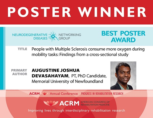 Neurodegenerative Diseases Networking Group Best Poster Award banner