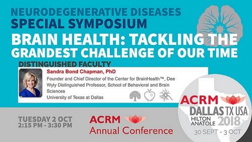 Neurodegenerative Diseases Special Symposium with Sandra Bond Chapman