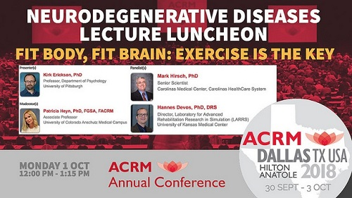 ACRM Neurodegenerative Diseases Lecture Luncheon featuring Kirk Erickson