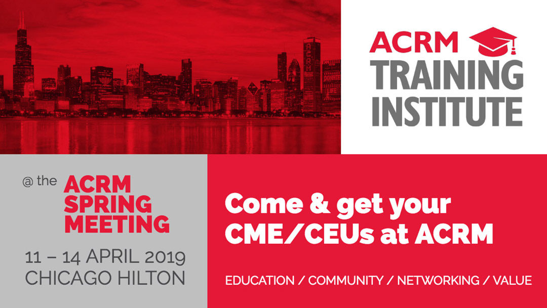 Introducing the ACRM Training Institute