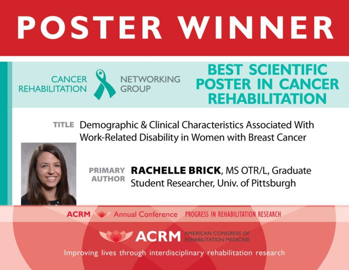 Best Cancer Rehabilitation Poster Award