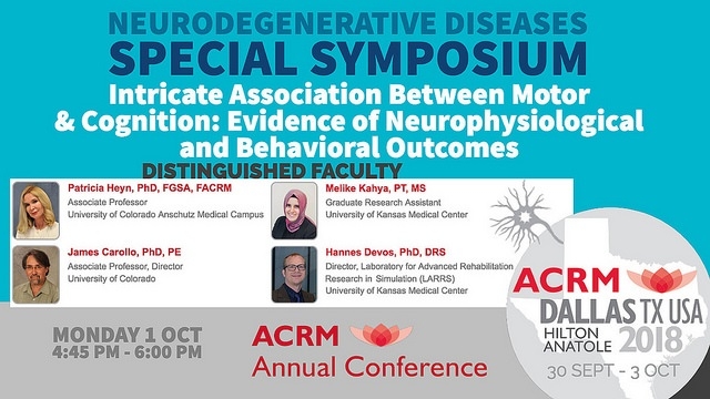 ACRM Special Symposium graphic featuring Patricia Heyn and colleagues