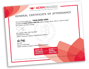 ACRM Spring Meeting Certificate of Attendance SMALL
