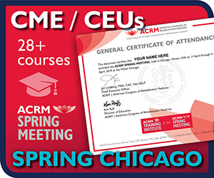 Get CME/CEUs at ACRM Spring Meeting CHICAGO
