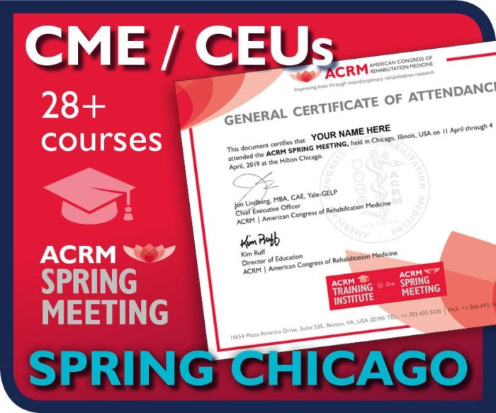 Earn CME-CEUs at the ACRM Spring Meeting