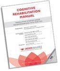 ACRM Cognitive Rehabilitation Training Manual cover image