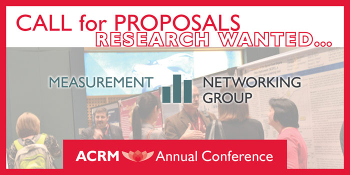 Call for Proposals for papers and posters in rehabilitation measurement