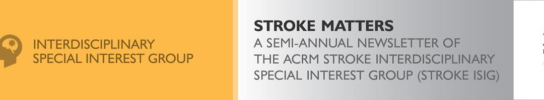 Letter From the Stroke ISIG Chair