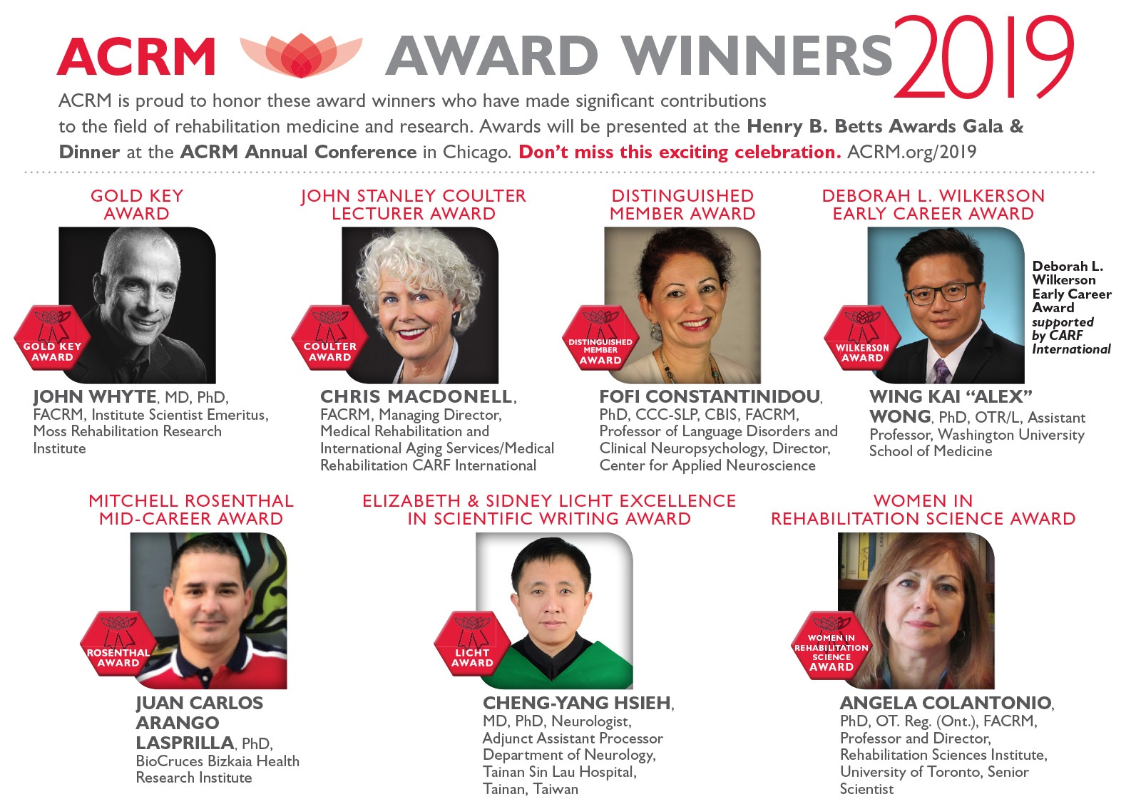 ACRM 2019 Awards Recipients image