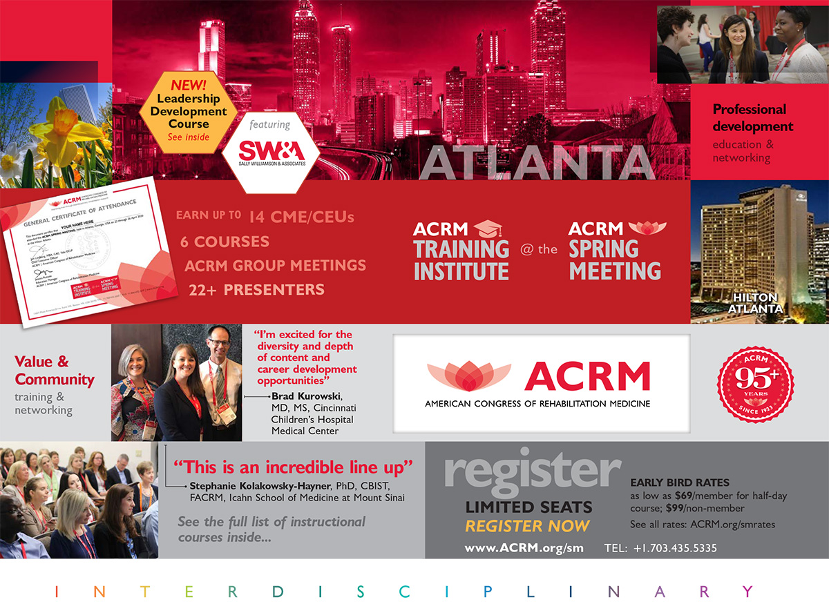 ACRM 2020 Training Institute at the Spring Meeting brochure