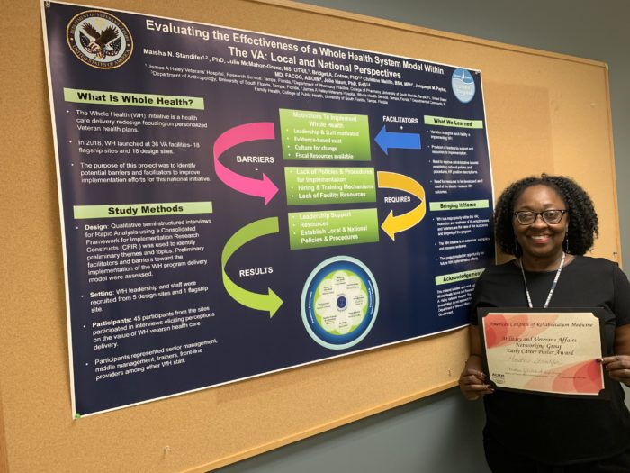 Maisha Standifer received the ACRM 2019 Early Career Poster Award