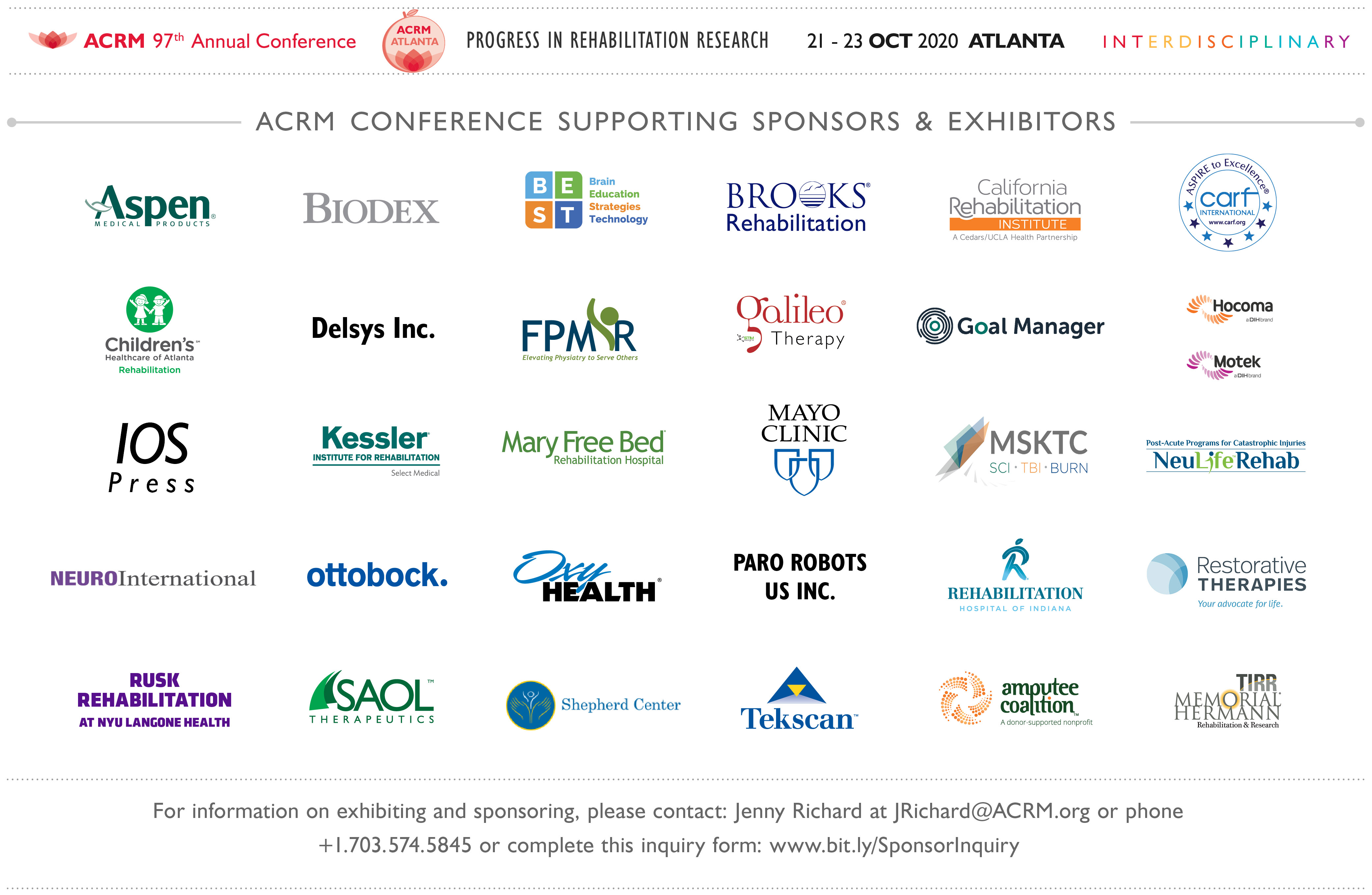 ACRM 2020 Conference Exhibitors & Sponsors