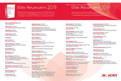 ACRM 2019 Elite Reviewers