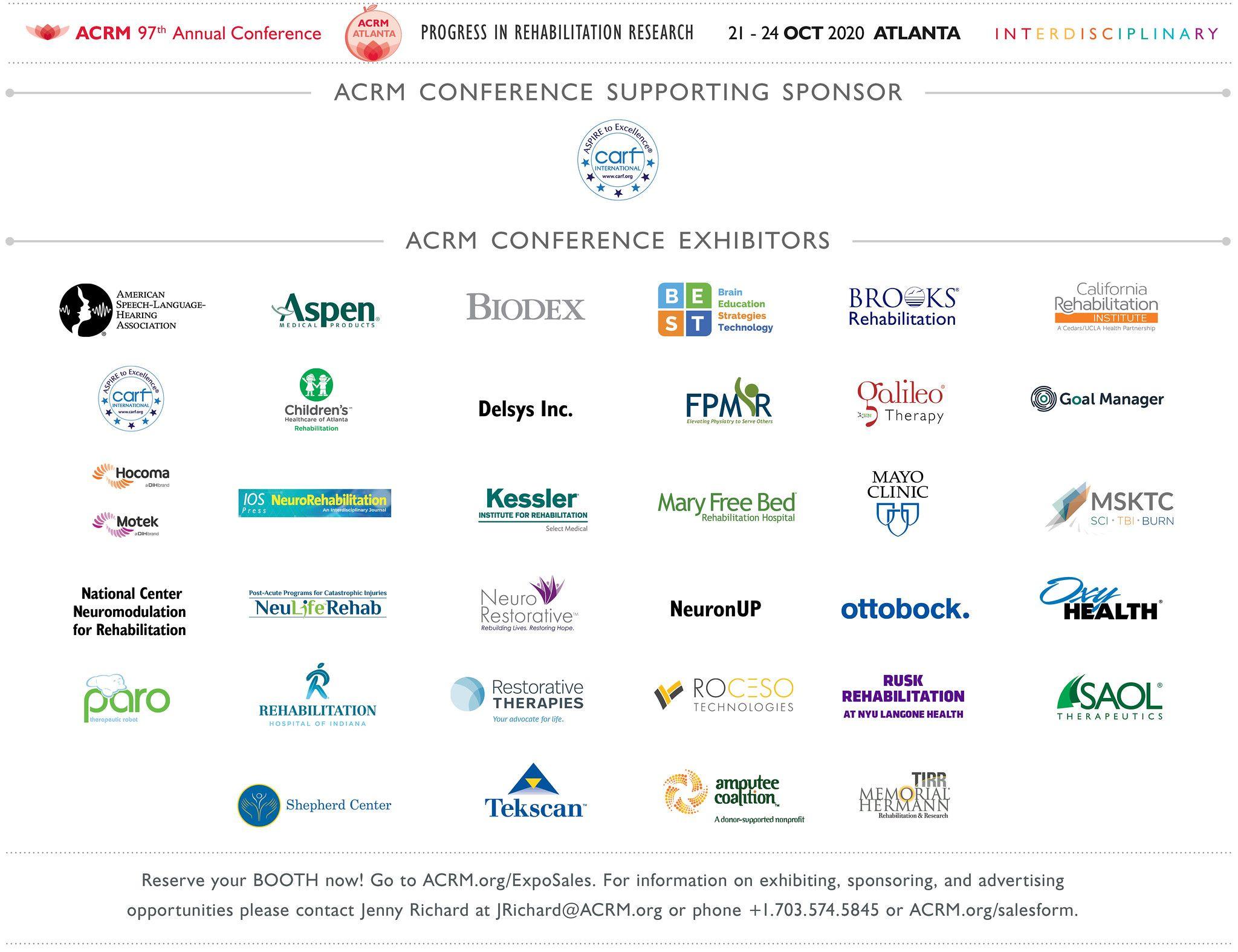 ACRM 2020 Sponsors & Exhibitors image