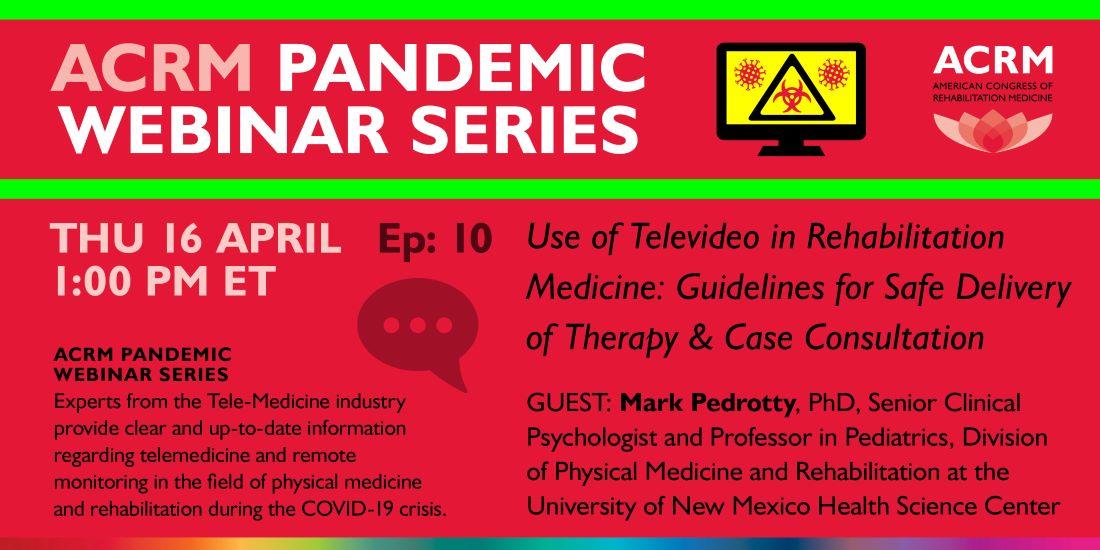 ACRM Pandemic Webinar Series image